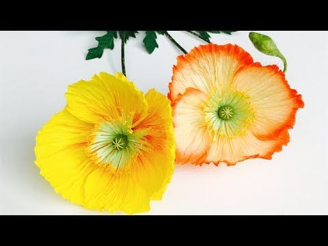 ABC TV | How To Make Poppy Paper Flower From Crepe Paper - Craft Tutorial - YouTube