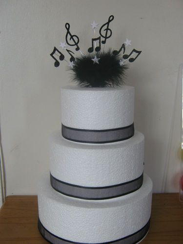Music Note Musical Cake Topper With Age Pick Your Own Colours
