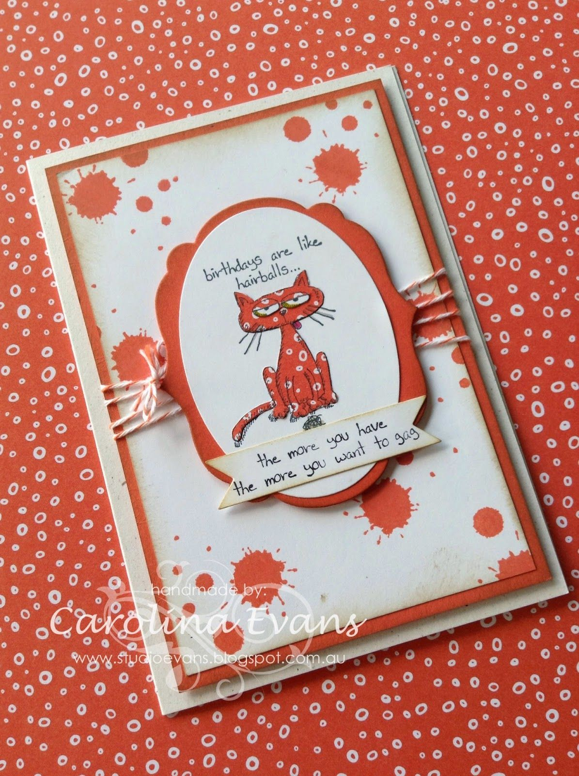 Giggle greetings stamped on patterned paper dsp greeting
