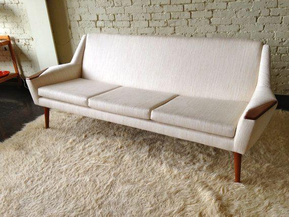 Milieu Du Siecle Moderne Canape Par Midcenturyville Sur Etsy