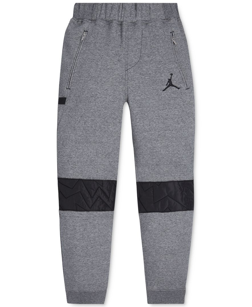 29bfcba6109 Jordan Boys' Aj Vii Quilted Fleece Active Jogger Pants | Jordans in ...