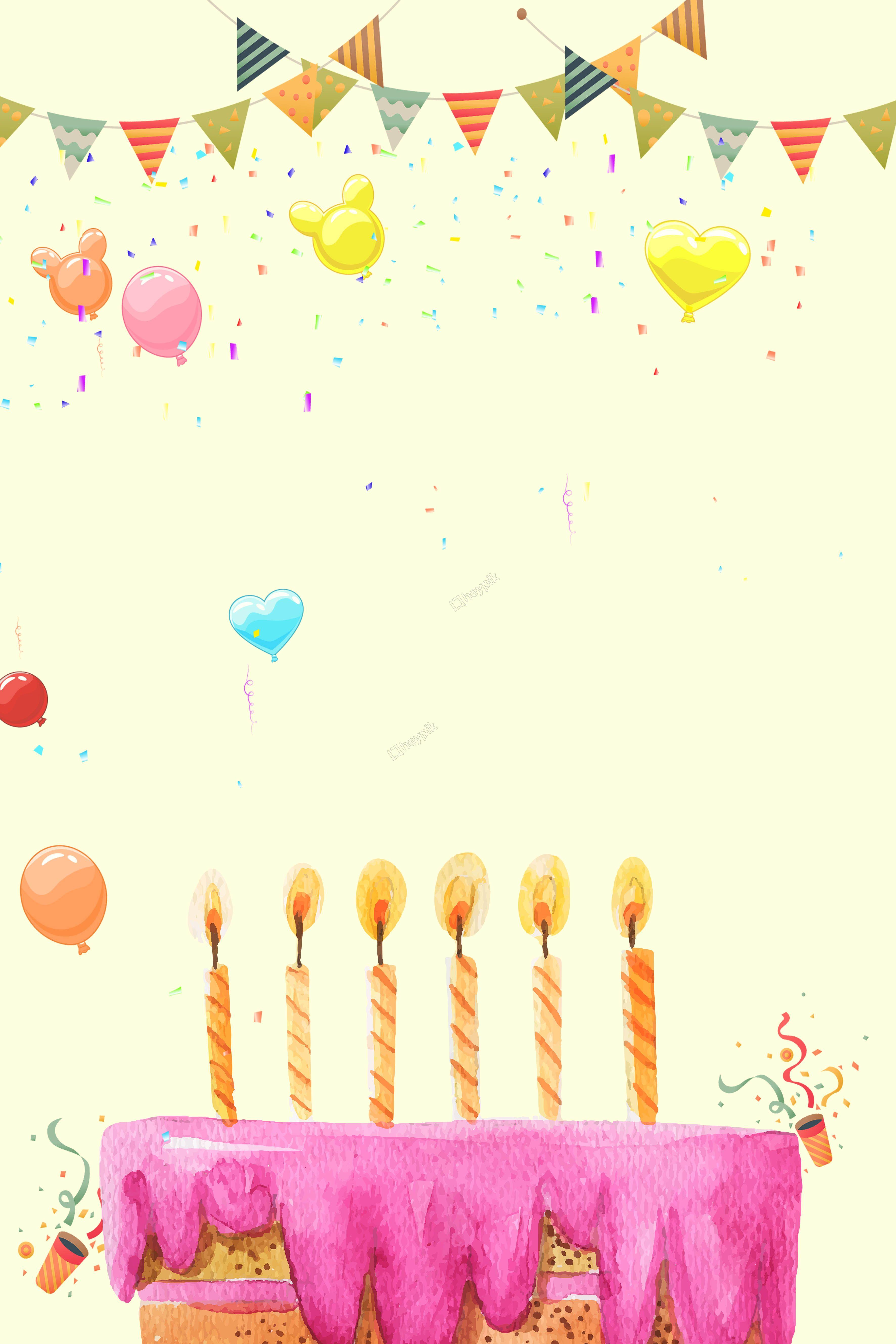 Tlo Urodziny Zabawa Plakat Tlo Urodziny Choragiewki Plakat
