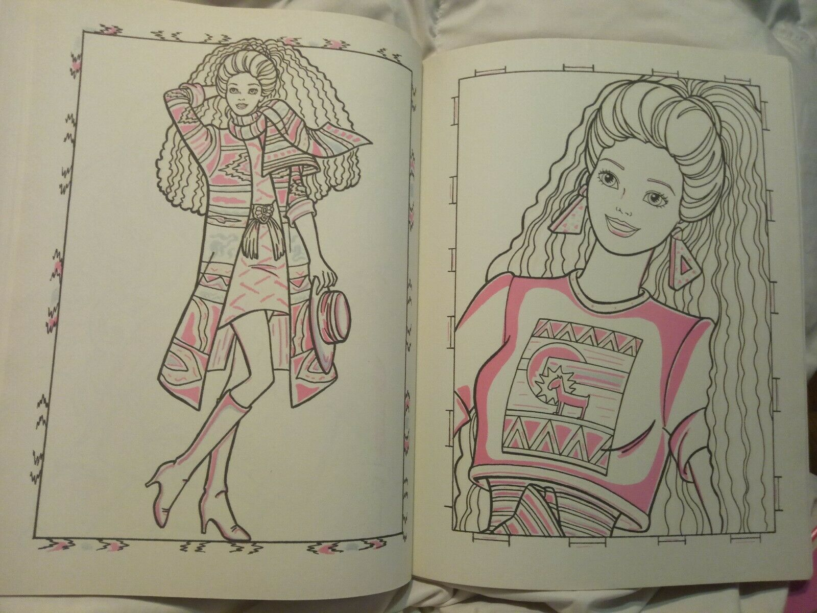 Vintage 1990 Barbie Giant Paint With Water Coloring Book By Golden New Unused 10 Barbie Coloring Pages Coloring Book Set Barbie Coloring