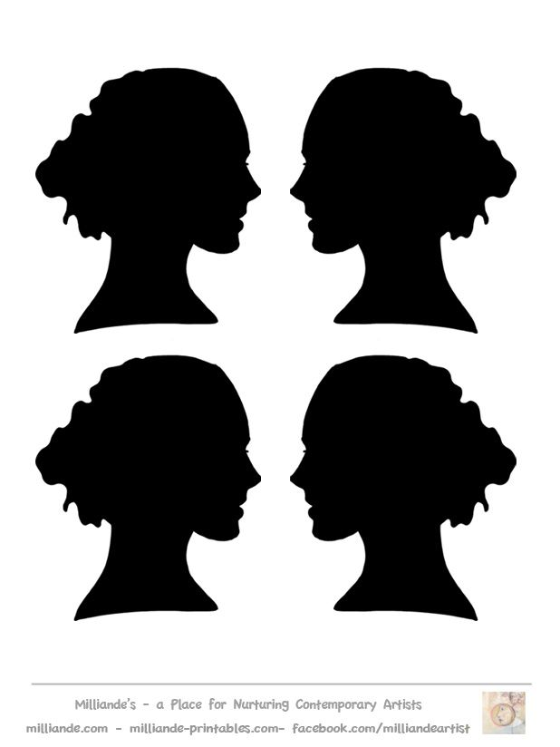 Face Silhouette Templates Printable Stencil Template at www - free profile templates