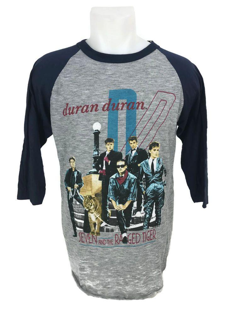 Vintage 1984 Duran Duran Seven & The Ragged Tiger Baseball
