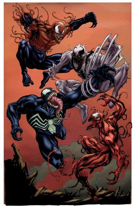 venom vs carnage vs toxin vs anti venom aliens pinterest venom