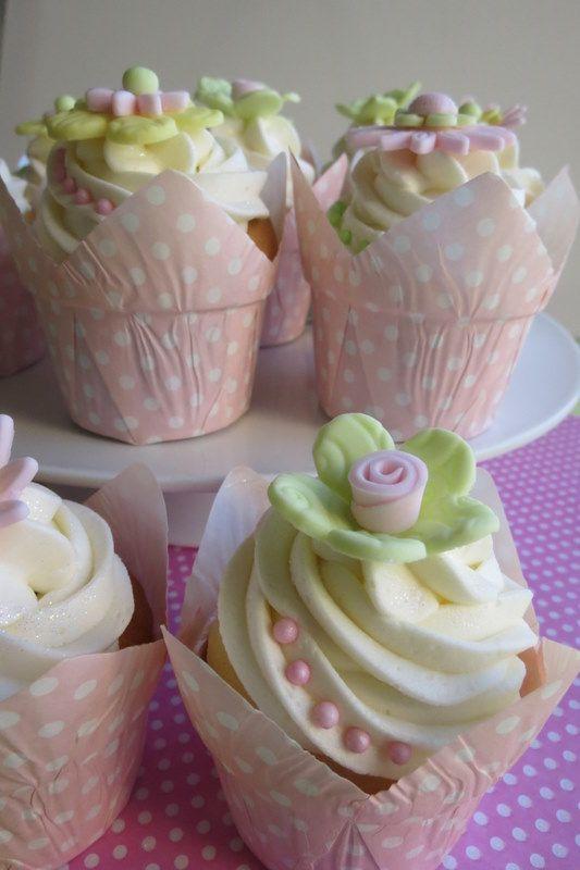 Pastel pink green yellow flower cupcakes feast on pink pastel pink green yellow flower cupcakes mightylinksfo