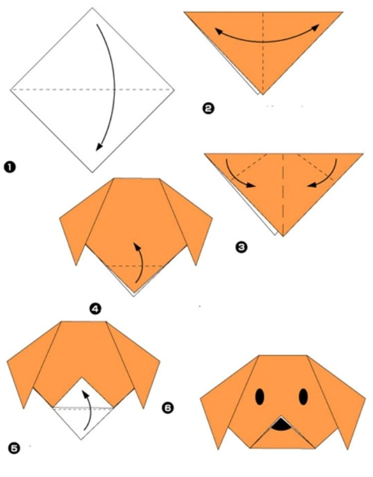 Simple origami for kids and their parents. Selection of funny and cute figures