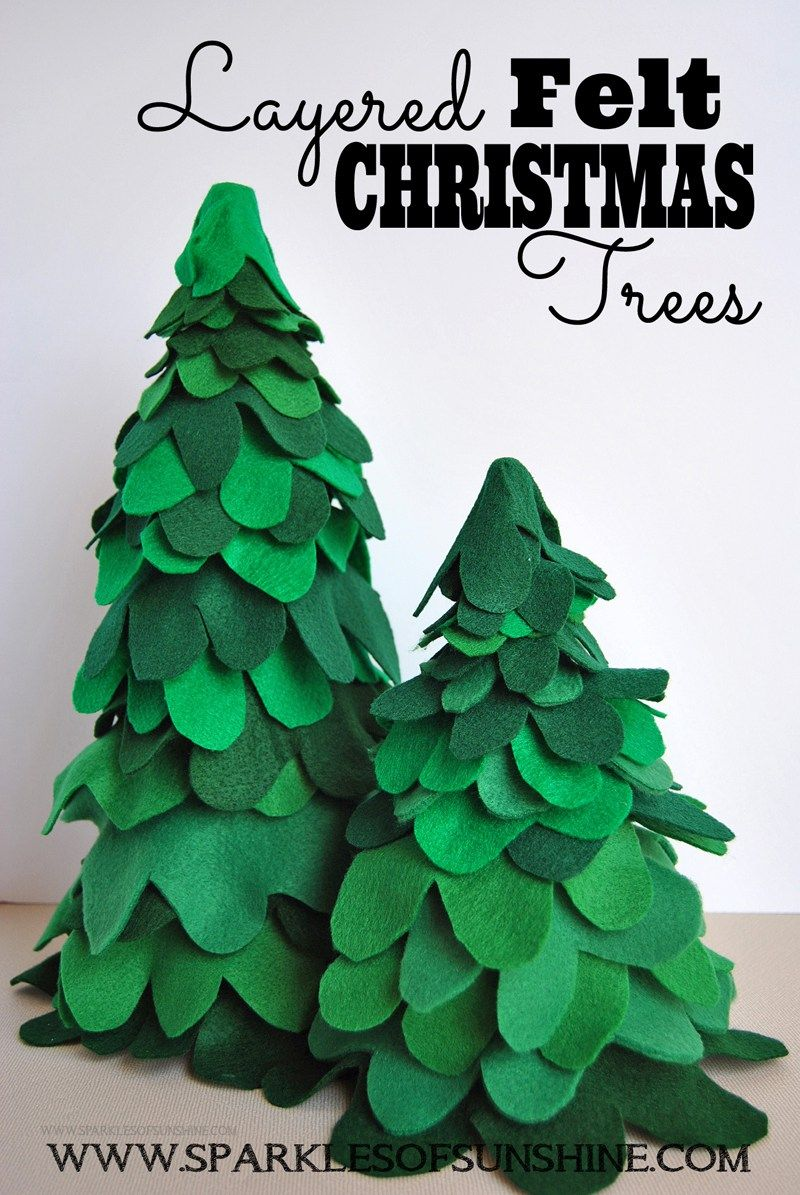 Layered Felt Christmas Trees Sparkles Of Sunshine Felt Christmas Tree Easy Christmas Diy Felt Christmas