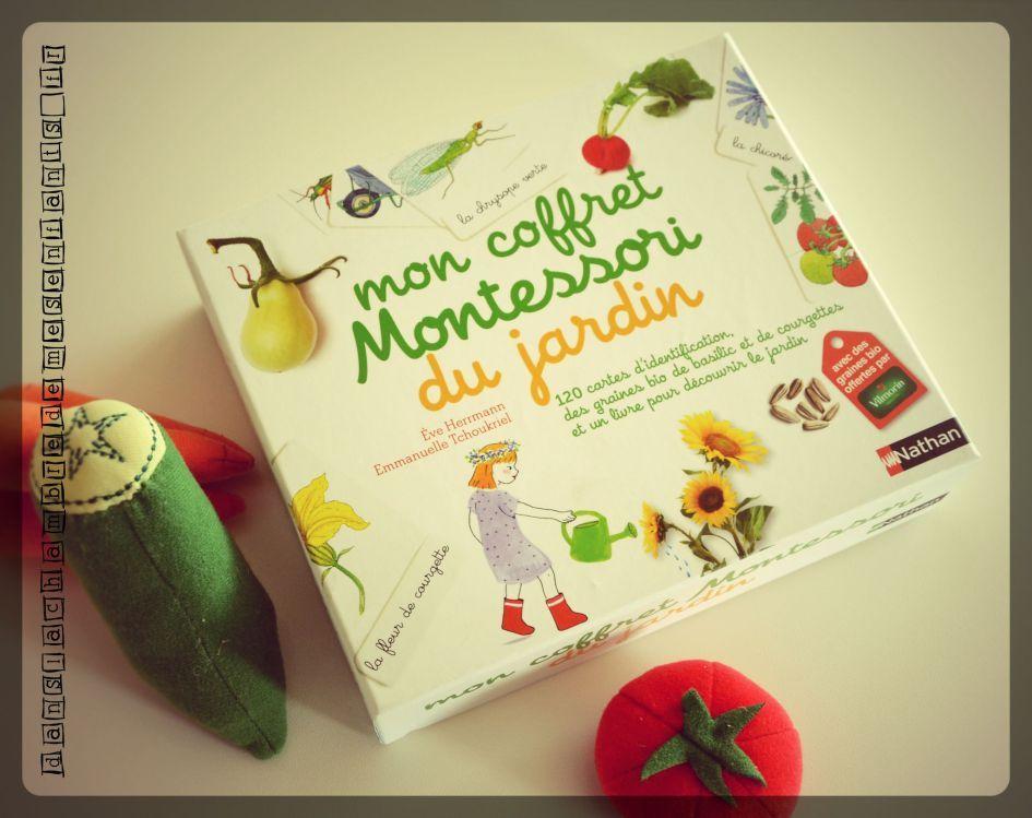 Mon coffret Montessori du jardin - Editions Nathan