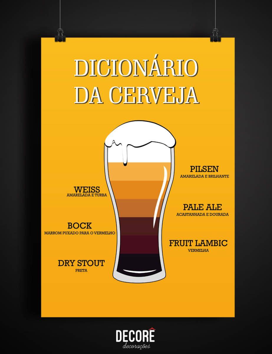 Pôster Dicionário Da Cerveja A3 2085955 Enjoei P