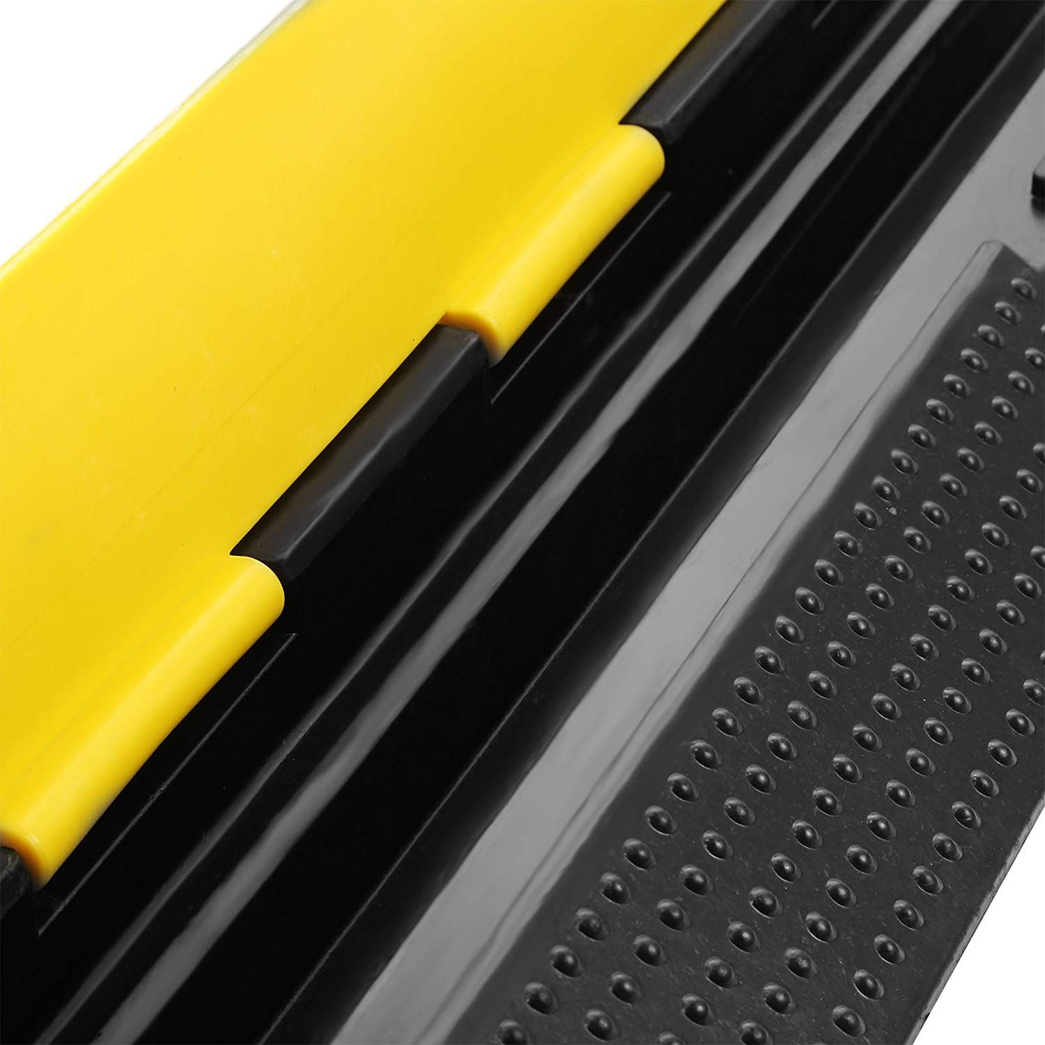 Amazon Com Bestequip 3 Pack Extreme Rubber Cable Protectors 2 Channel Cable Protector Ramp 11000lbs Capacity Rubber Speed Cable Protector Speed Bump Protector