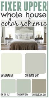 Photo of Fixed upper color scheme for the whole house. Get the fixer upper look …