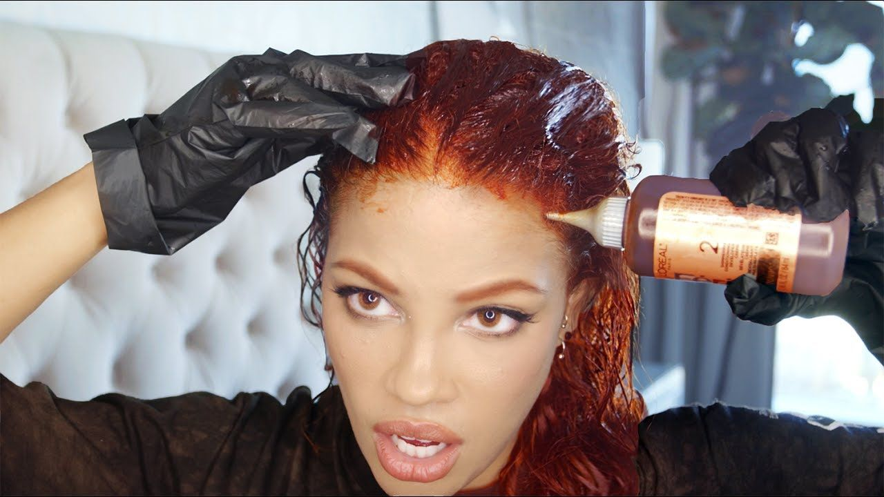 HOW I COLOR MY HAIR & EYEBROWS AT HOME - YouTube | Dyed Hair ...