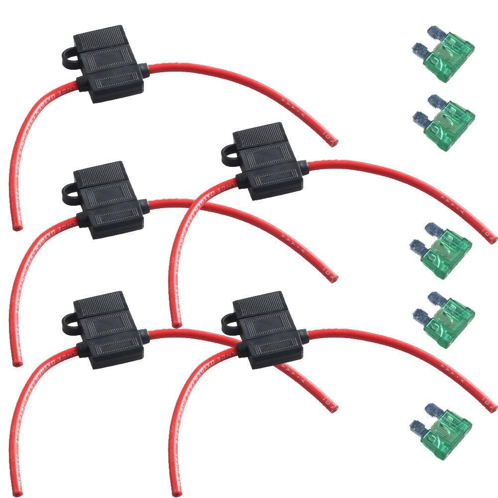 Ee Support 5pcs Car Atc Fuse Holder Box In Line Awg Wire Copper 12v 30a 12 Gauge Sales Xy01 Yesterdays Price Us 1532 1365 Eur