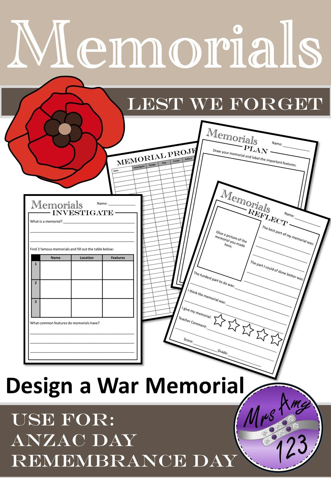 War Memorial Project Use For Anzac Day Or Remembrance Day