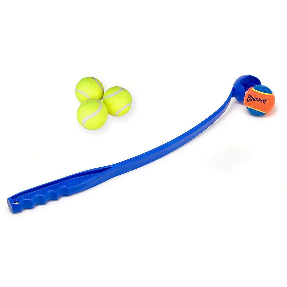 Chuck It Toys For Dogs Set With 1 Chuckit Tennis Ball Thrower For