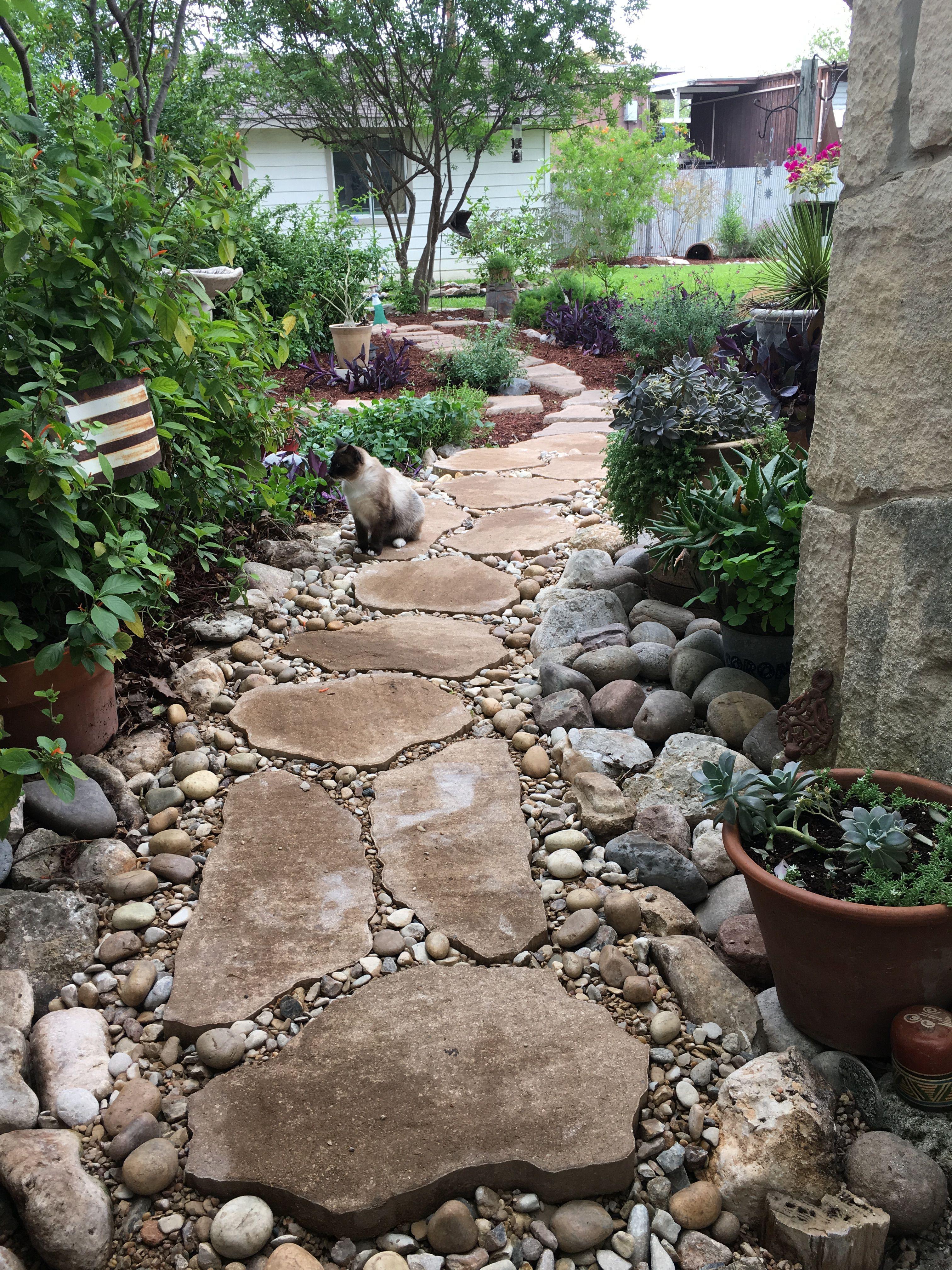 Pin By Lisa Leon On Gardening And Outdoor Rock Garden Landscaping Backyard Landscaping Designs Rock Garden Design