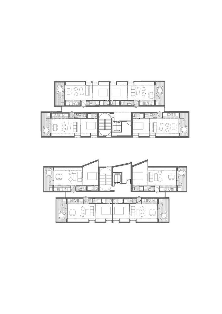 Galería - 46 Viviendas de promoción pública, oficinas, locales comerciales y garaje / Amann Canovas Maruri - 45