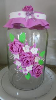 Herthal art's: Vidro decorado com flores de e.v.a   vidros ...