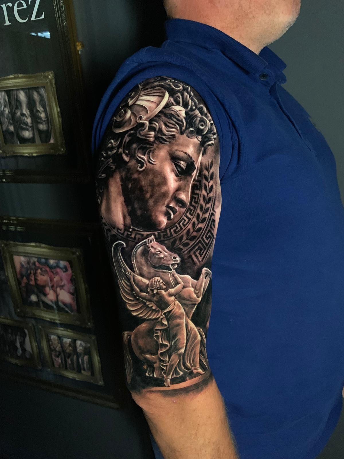 Perseus Pegasus Greek Mythology Tattoo By Teo Limited
