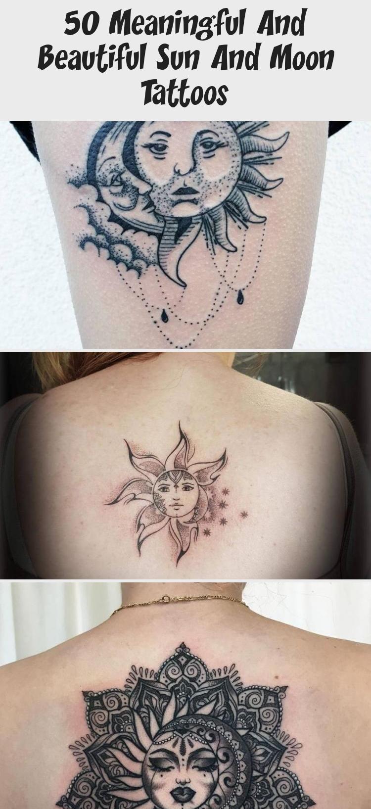 Photo of dekorative Sonnen- und Mond-Tattoo-Ideen © Eloise Entraigues ☀️ ☀️ #MusicTa …
