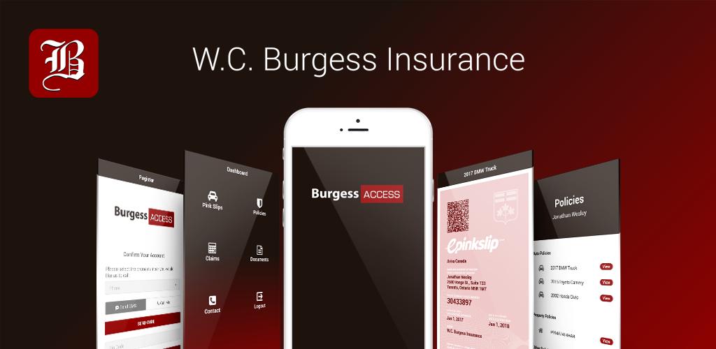 Featuring our new app, BurgessAccess! insurance broker