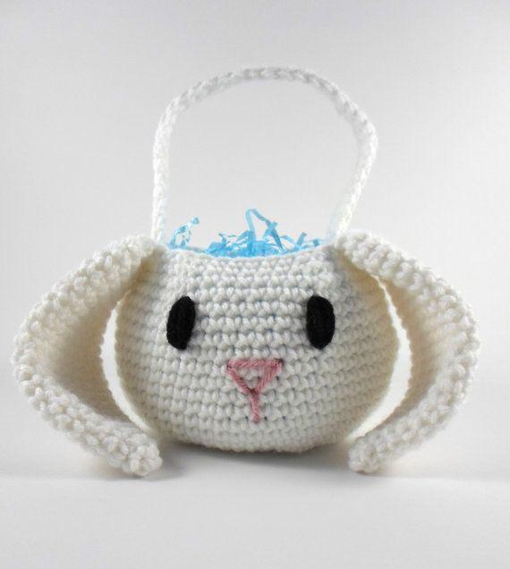 Boy Easter Basket, Easter Bunny Basket, Crochet Easter Basket ...