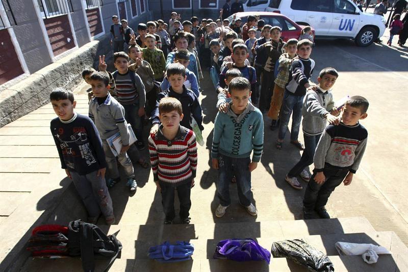 Los niños de Siria, rostros inocentes y destino incierto en una guerra de adultos