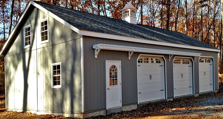 24x40 3 Car 2 Story Garage 2 Story Garage Prefab Prefab Garages
