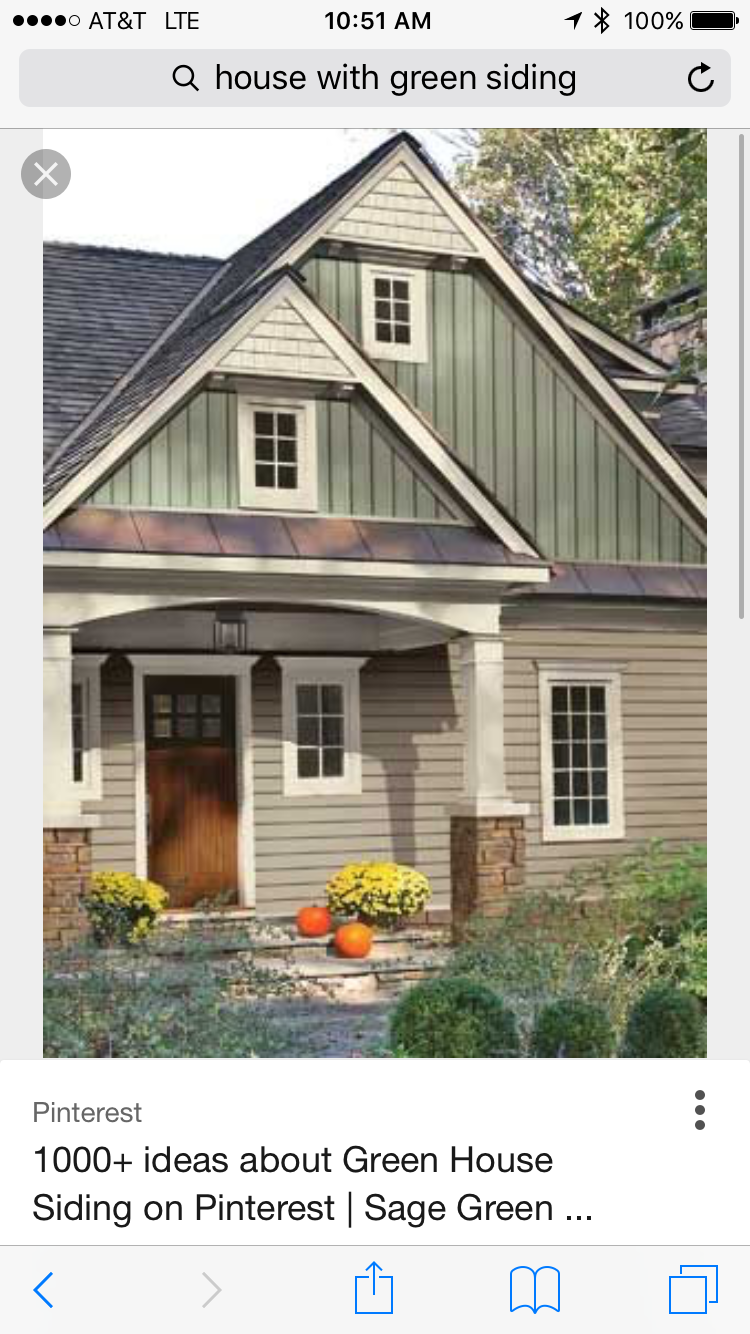 Paint Colors Love The Two Tone Beige And Green House Paint Exterior Cottage Exterior Craftsman Exterior