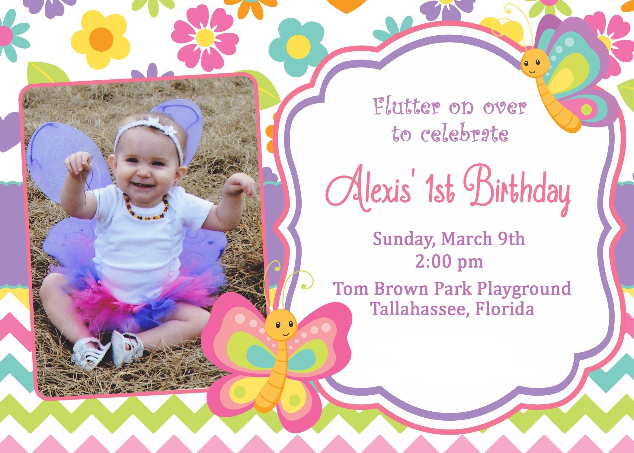 Butterfly 1st Birthday Party Invitation off etsy | Birthday ...