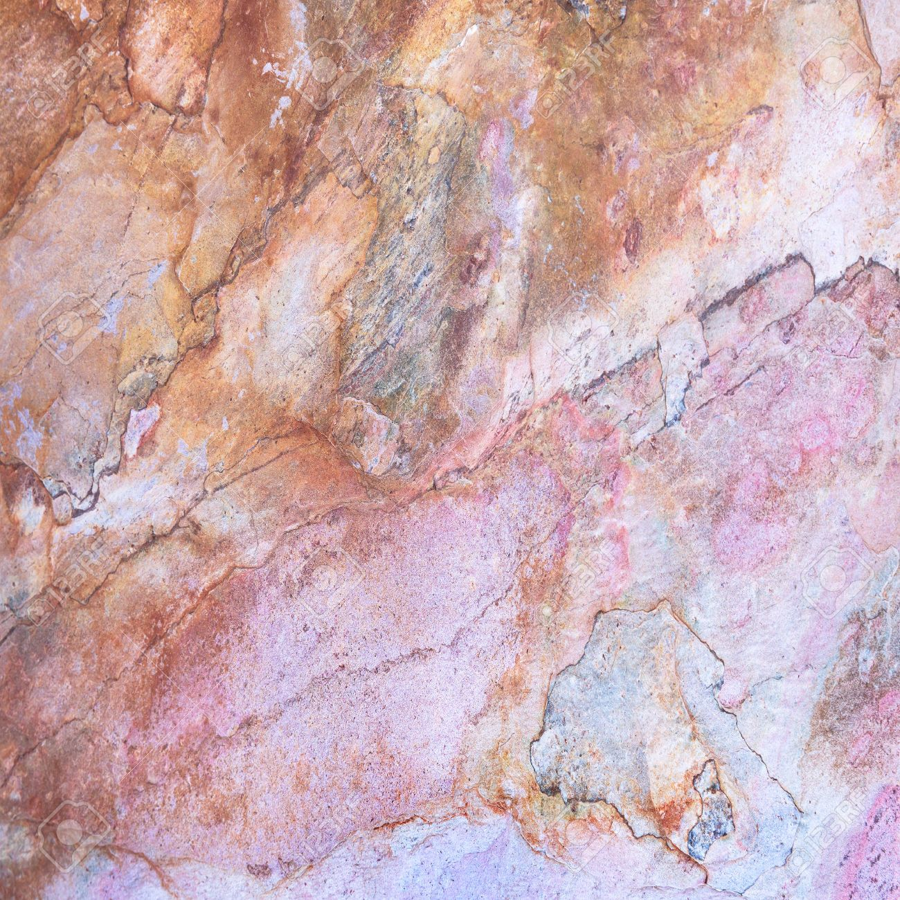 Marble Background, Light Pink And Orange Colors Pattern ...