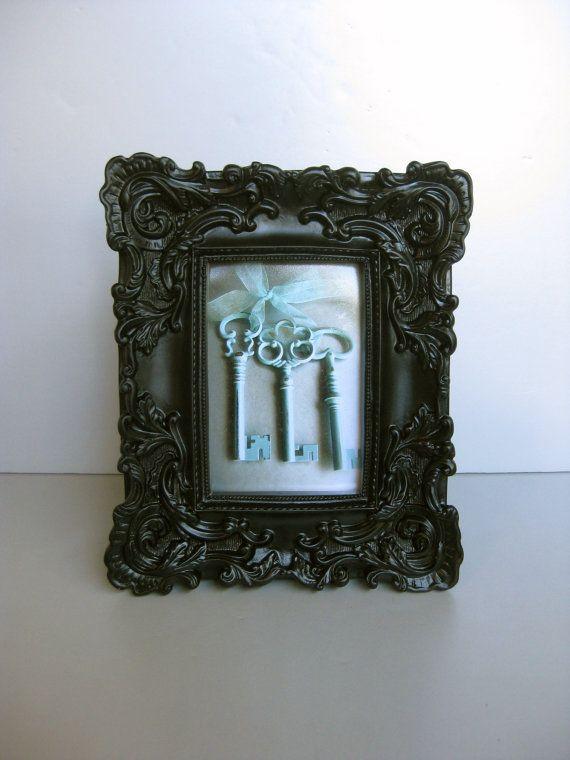 Ornate Black Frame Old Key Photo Skeleton Keys Shabby by Swede13
