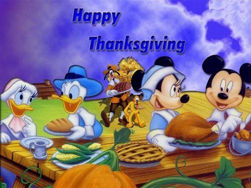 Disney Thanksgiving Wallpaper | ... Cartoon Character ...