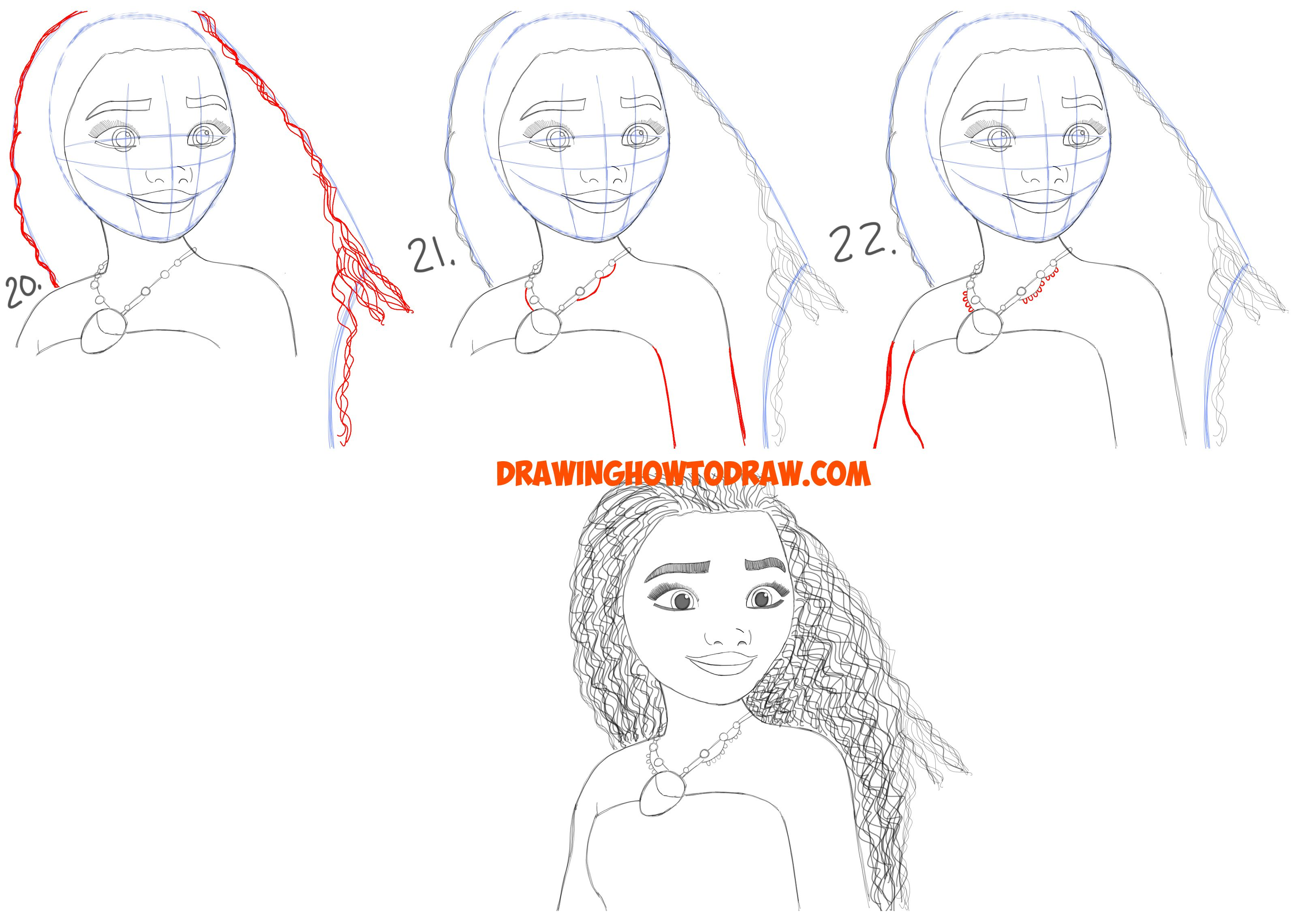 How To Draw Moana Easy Step By Step Drawing Tutorial For Kids And Beginners How To Draw Step By Step Drawing Tutorials Drawing Tutorial Cool Drawings Drawing Tutorials For Kids