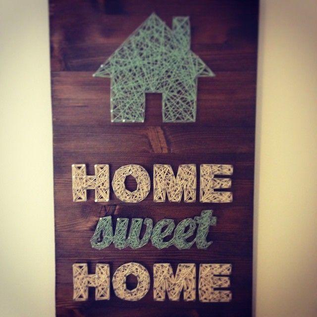 home sweet home string art by montstore diy pinterest fadenbilder fadenkunst und nagelbilder. Black Bedroom Furniture Sets. Home Design Ideas