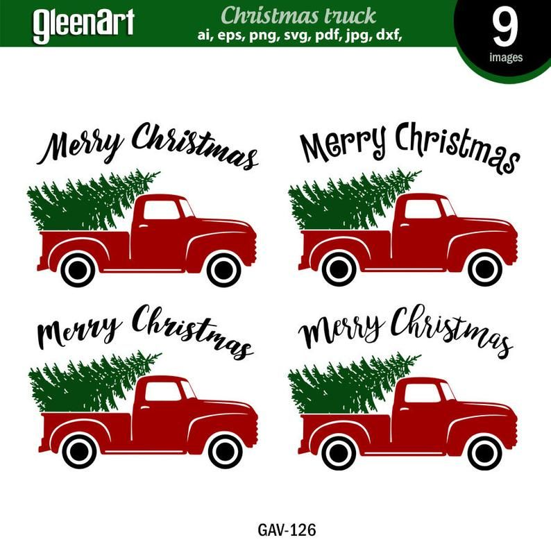 Christmas Truck Svg Christmas Tree Svg Old Red Truck Svg Etsy Christmas Truck Christmas Svg Tree Svg