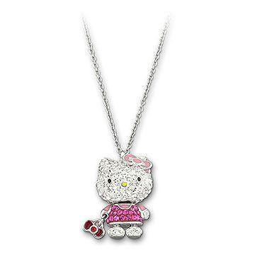 Hello kitty pendant hello kitty kitty and pendants hello kitty pendant from swarovski mozeypictures Image collections