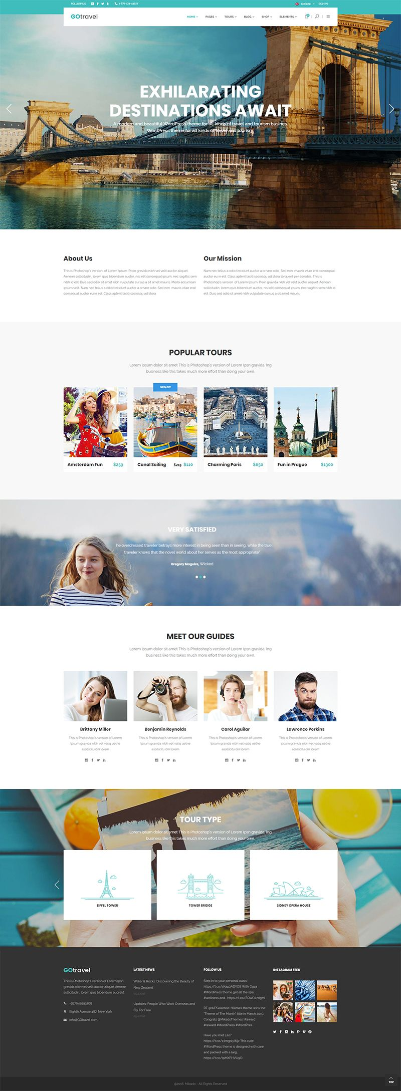 GoTravel WordPress theme comes packed with great features and