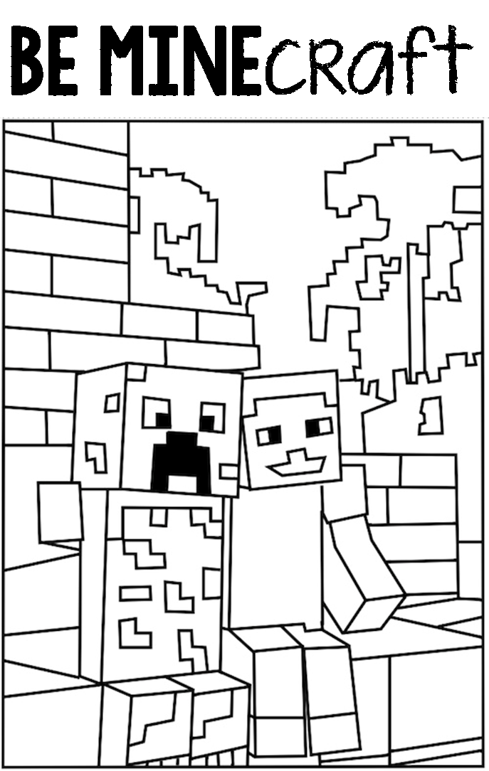 Thoughtful Fill In The Blank Valentines Day Printable Minecraft Coloring Pages Coloring For Kids Coloring Pages For Boys