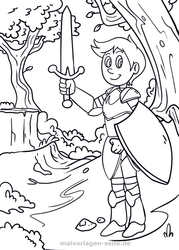 Malvorlage / Ausmalbild Ritter - Coloring pages for Kids with ...