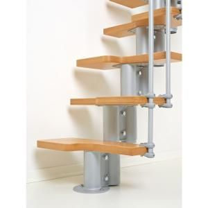Best Arke Nice2 22 In Grey Modular Staircase Kit K50102 At 400 x 300