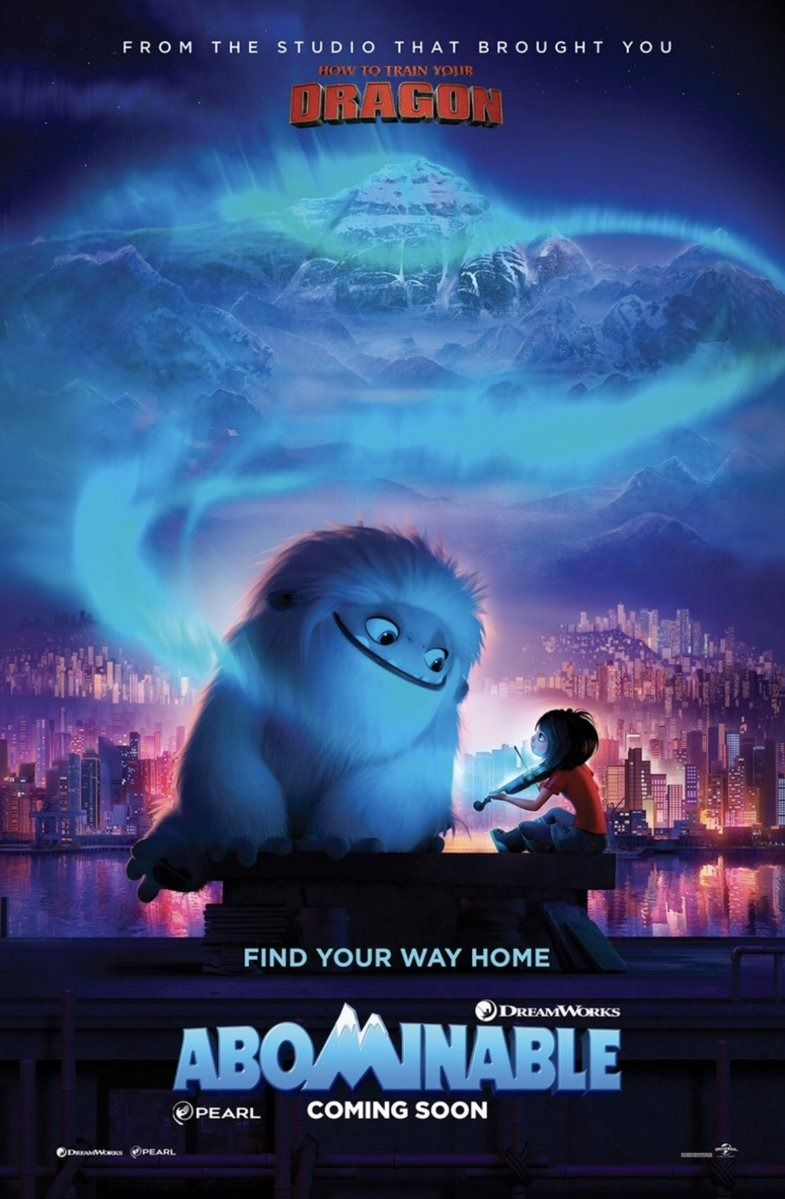 Abominable movie clip and posters https//teaser