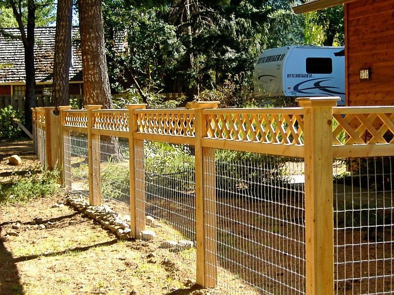 Custom Framed 4 X 4 Welded Wire Welded Wire Fence Wire Fence Fence Design