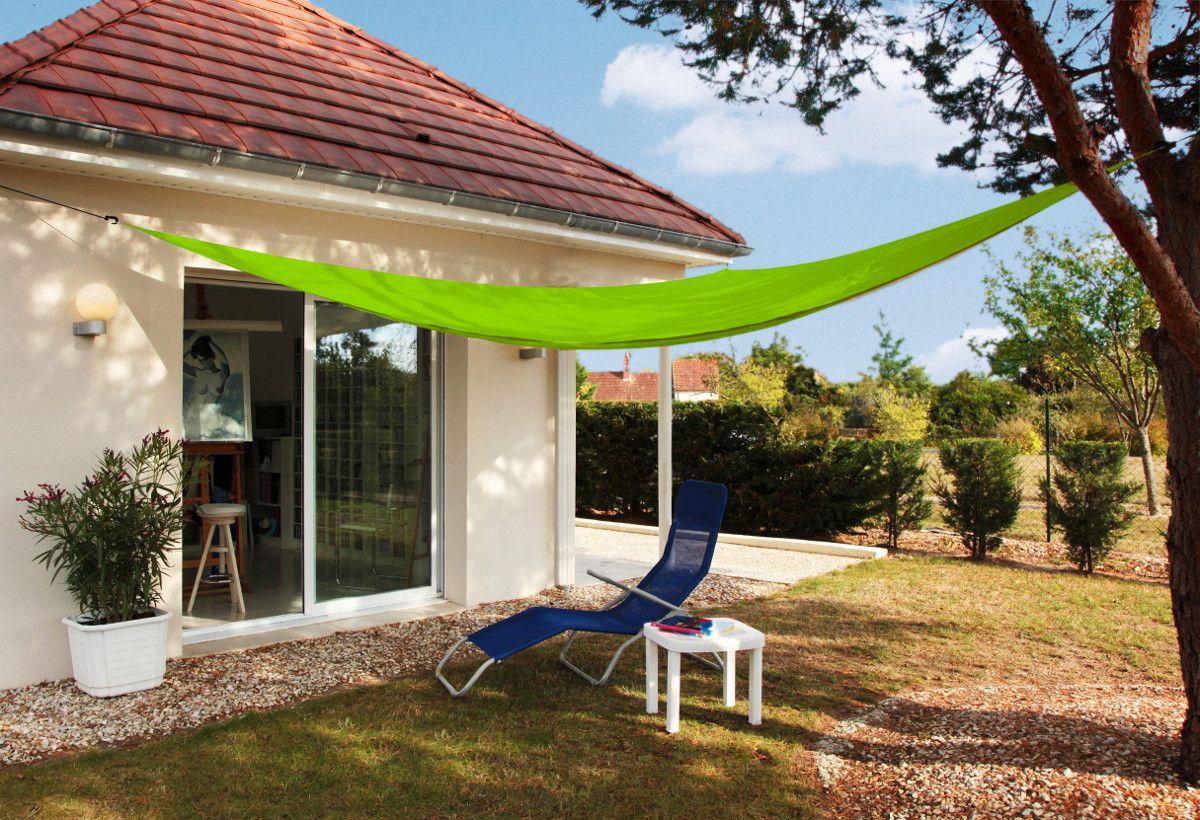 Toile d\'ombrage triangulaire 3 mètres (Vert pomme)   Quand ...