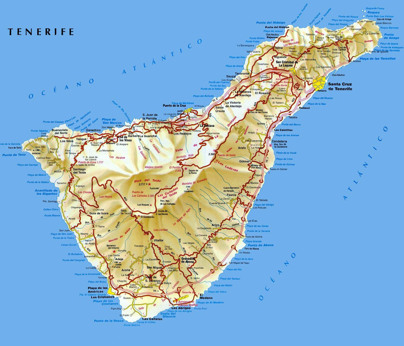 kart over tenerife Kart+over+Tenerife. 1 400 × 1 200 bildepunkter | Islas Canarias  kart over tenerife