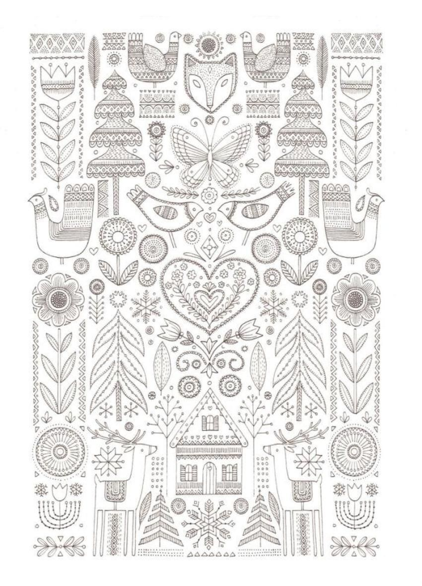 Folk Art To Color African Folk Art Coloring Pages Coloring Pages For All Ages Floral Embroidery Patterns Folk Embroidery Embroidery Patterns Vintage