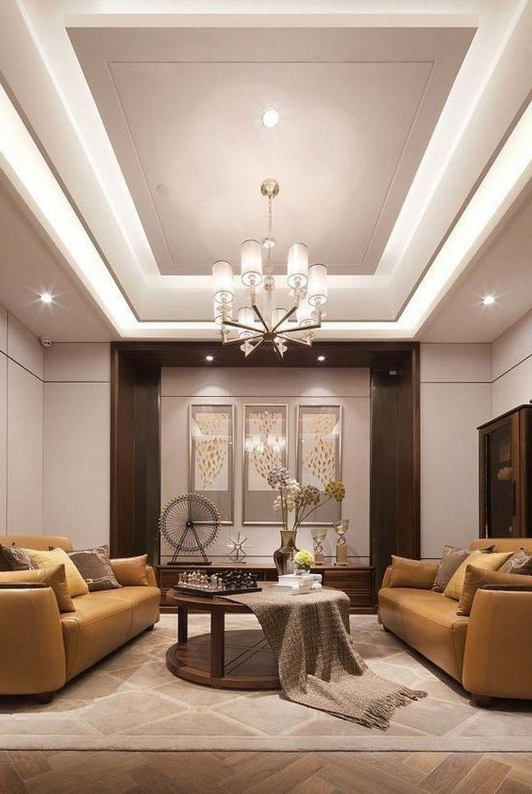 Latest Drawing Room Design: 65 New False Ceilings With Cove Lighting Design For Living