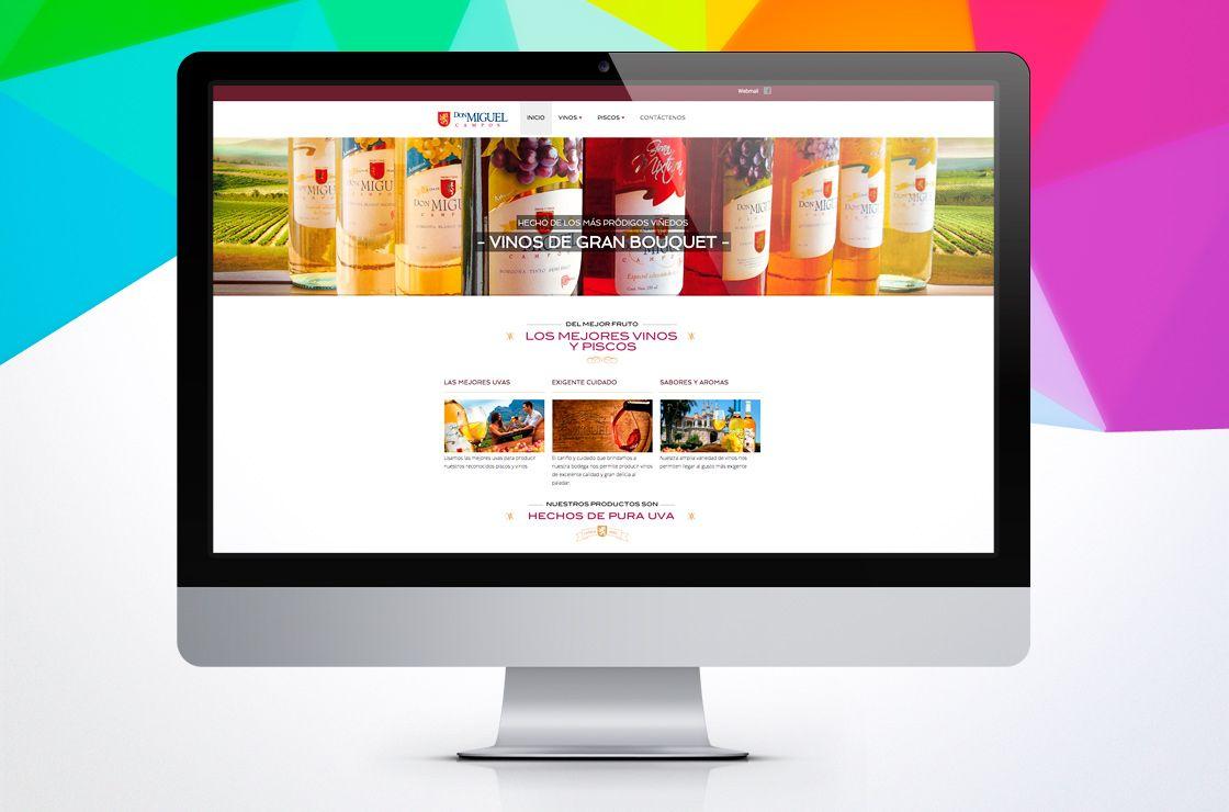 Sitio web de vinos Don Miguel Campos